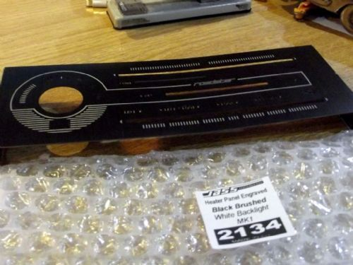 Heater panel trim, black brushed s/s, Mazda MX-5 mk1, JASS Performance